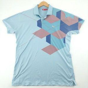 Puma | Golf Sport Polo Geometric Iridescent Shirt
